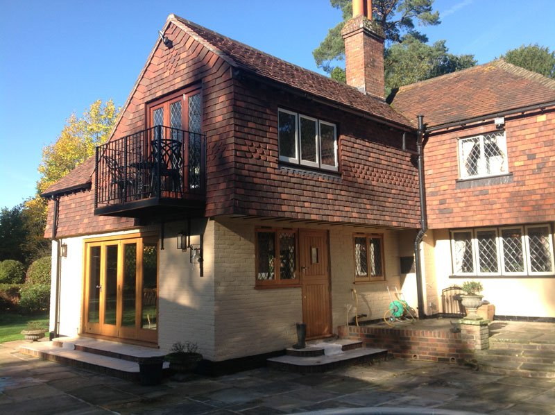Two storey house extension, Copthorne, Surrey - Building Contractor ...