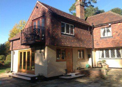 Two storey house extension, Copthorne, Surrey